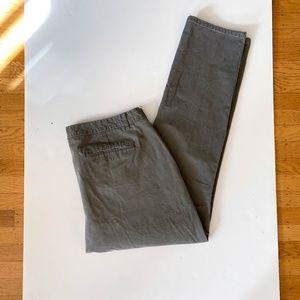 BONOBOS Washed Chino Pants Green Sz 38/32 Athletic